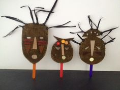 african mask, african mask craft, african masks kids craft, african mask art, african mask cardboard jute, make your own african mask - A...