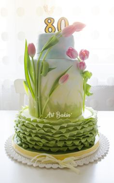 80th Bday Cake by Art Bakin