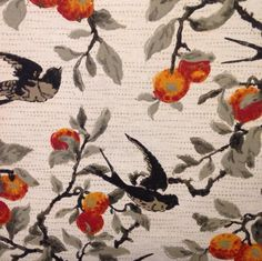 A detail shot of an antique wallpaper sample in our archive. #birds #colour #illustration #drawing #wallpaper #archive #antique #inspiration #design #detail #interiors #homedecor #interiordesign #luxury #vintage