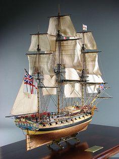 HMS Enterprise, 28 guns, the Royal Navy. Enterprise was in August 1774