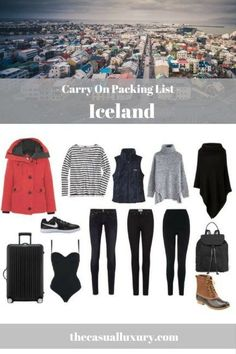 Packing for Iceland // Iceland Packing List // Cold Weather Packing List // Iceland in a Carry On