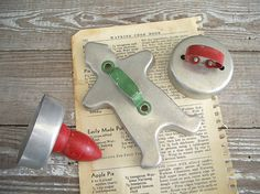 collection 3 vintage tin cookie cutters  by KatyBitsandPieces, $9.00