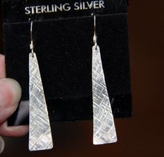 Earrings Sterling Silver Triangles Dangle & by SistersArtisans, $36.00   *PLEASE Click on the etsy.com words below to follow the link to this item.