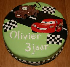Takel en Bliksem van Cars voor Olivier zijn 3e verjaardag