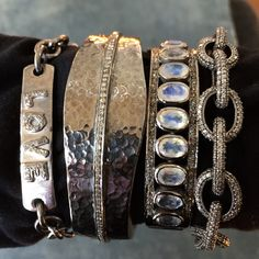 Arm party Silver Bracelets, Cuff Bracelets, Boho Fashion, Fashion Beauty, Arm Party, Jewelry Box, Jewellery, Houston, Gems
