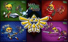 Legend Of Zelda: Four Swords by TehGreyFawkz on DeviantArt