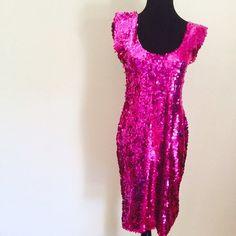 NWOT Sequins dress, Party dress, fuschia, size XS Sequins dress, Party dress, fuschia, never worn,  size XS/S Dresses