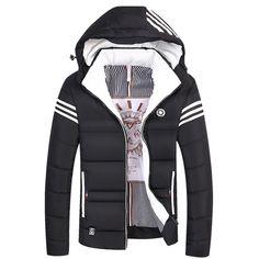 2017 Winter Mens Thick Jacket Coat Male Warm Velvet Fleece Fur Jackets Parka Men Casual Hooded. Click visit to buy