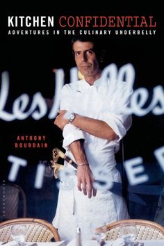 """New York Chef Tony Bourdain gives away secrets of the trade in his wickedly funny, inspiring memoir/expose. Kitchen Confidential reveals what Bourdain calls """"twenty-five years of sex, drugs, bad behavior and haute cuisine."""""""