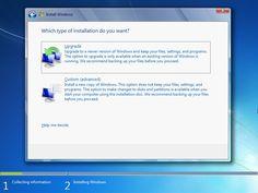 Windows 7 Upgrade Clean Install