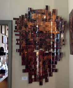 Recycled copper art // Weaving // contemporary style // Gallery 873 // rustic design by Mike Dumas Copper Designs