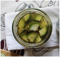 MARILLA'S SUPER AWESOME MAPLE-WHISKEY PICKLES WITH CABIN FEVER WHISKEY