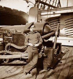 Powder Monkey on, USS New Hampshire, 1864, American Civil War.