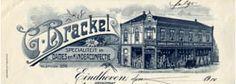 briefhoofd van winkel G. Brackel.