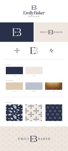 Emily Baker Brand Identity Design by Spruce Rd. | Emily Baker Design is an interior design company. EBD believes in creating a stylish yet functional home for their clients. The logo + design style is centered around timeless, functional spaces that speak to each individual homeowner. Overall, the brand identity reflects the classic and sophisticated designs that all Emily Baker clients love and trust.