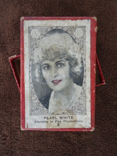 1920's Silent Screen Movie Stars Cigarette Cards by Catsandclover, $110.00