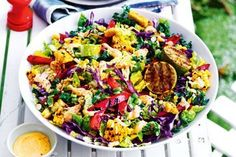 Mexican pearl couscous and corn street salad recipe Creamy Pasta Salads, Creamy Potato Salad, Easy Pasta Salad, Easy Salads, Summer Salads, Healthy Salads, Prawn Salad, Couscous Salad, Rice Salad