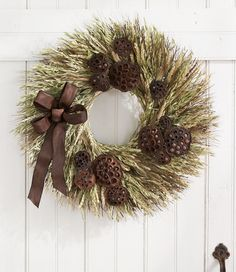 Fall Wheat Wreath: Wreaths and Wall Decor | Free Shipping at L.L.Bean