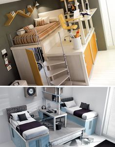 I'd like to have a loft in my bedroom now. I could definitely use another closet!