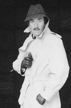 fbee1b54a1a Actor Peter Sellers in costume as Inspector Clouseau.