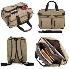 "Clean Vintage Hybrid Backpack Messenger Bag | Convertible 14""-15"" Laptop Backpack- Rucksack  #fashion #bag #backpack #Happy4Sales #L09582 #handbags #shoulderbags #highschool #kids #YLEY #bagshop #WomenWallets"