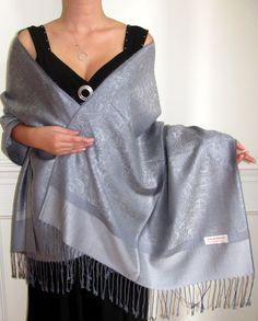 Pewter Grey Fashion Pashmina Desire