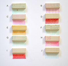 Washi tape sellos / mano sello tallado / set de 3 por pinkprairies
