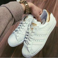 Adidas super star gold