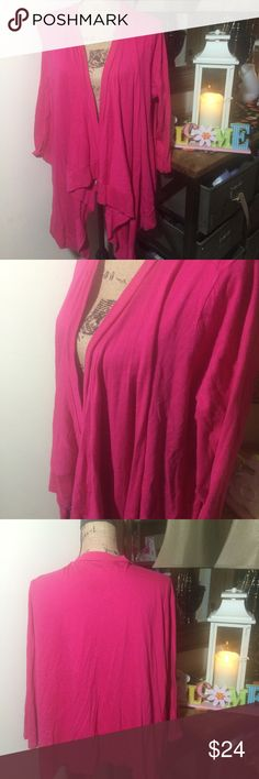 Lane Bryant Pink Open Cardigan Lane Bryant Pink Open Cardigan; this is a super cute and comfy cardigan that would be great for fall, winter or even cool spring days; it is gently used and in overall good condition; size 22/24 Lane Bryant Sweaters Cardigans