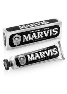 Marvis Tandpasta Amarelli Licorice 75 ml Description: De Marvis Tandpasta Amarelli Licorice tandpasta is de eerste tandpasta met dropsmaak. Dental, Flavored Toothpaste, Tooth Pain, Male Grooming, Teeth Cleaning, Skin Care, Boutique, Packaging, Cracked Tooth