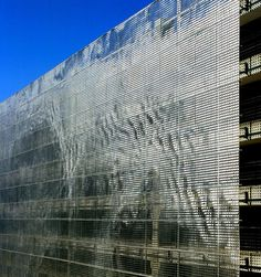 Shimmering Art Makes a Parking Garage Disappear | Co.Design: business + innovation + design
