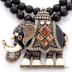 Heidi Daus Michelle's Majestic Mr. Elephante' Beaded Drop Necklace New .......OMG have to find this for my grannie!