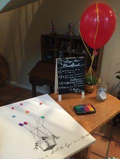 Hot Air Balloon Baby Shower Thumbprint Guestbook