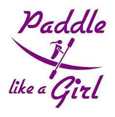 Paddle Like A Girl Kayaker Vinyl Decal Sticker Pink Kayak Kayaking Water Canoe | eBay