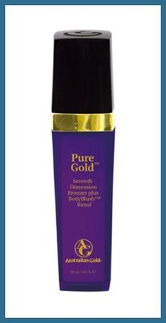 Australian Gold Pure Gold Tanning Lotion by Australian Gold. $24.95. Seventh Dimension Bronzer. 9 oz. Body Blush. Fragrance: Mandarin Grapefruit. Premium Line. Seventh Dimension Bronzers for dark, longer lasting color. Body Blush for an immediate blushed glow. Anti-aging & firming formula to moisturize and tone your skin. Suitable for all stage tanners. Grapefruit Fragrance. Save 73%!