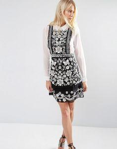 e1da09de919 Needle  amp  Thread Embellished Bib Pinafore Dress ( 461) ❤ liked on  Polyvore featuring