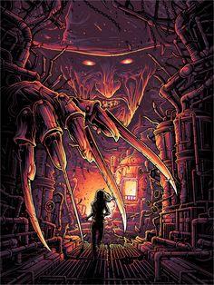 """One, Two, Freddy's Coming For You"" by Dan Mumford - Hero Complex Gallery, freddy krueger Casa Rock, Dan Mumford, Horror Movie Characters, Slasher Movies, Comedy Movies, Horror Artwork, Horror Icons, Horror Films, Kunst Poster"