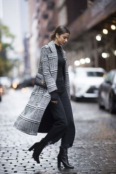 Grey and black outfit. Chic and classy.
