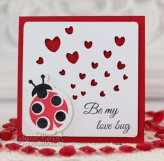 Lovely Ladybugs card by Sharon Harnist.