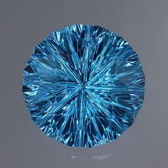 4.69-carat Swiss Blue Topaz, Starbrite™ cut by John Dyer