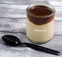 Natillas de Leche de Coco con Ganaché de Chocolate.
