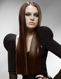 For fuller, shinier hair, look no further! The straight form blunt haircut offers a sleek, easy style that helps to create volume and sheen. Oblong Face Hairstyles, Haircuts For Fine Hair, Wig Hairstyles, Straight Hairstyles, One Length Haircuts, Blunt Haircut, Haircut Long, Full Lace Front Wigs, Hair Products Online
