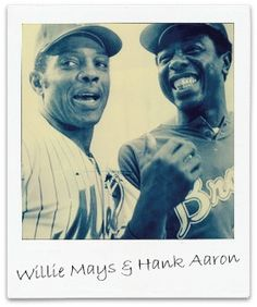 Legends Willie Mays and Hank Aaron