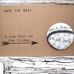 Polka dot save the date magnet