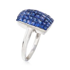 4.40 ct. t.w. Sapphire Ring in 14kt White Gold | Ross-Simons