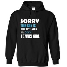 Taken by a Tennis girl - #gift for dad #love gift. LOWEST PRICE => https://www.sunfrog.com/LifeStyle/Taken-by-a-Tennis-girl-8152-Black-18198091-Hoodie.html?68278