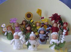 12 Monatspüppchen Blumenkinder Jahreszeitentisch