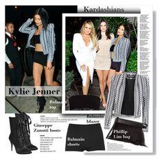 """CelebrityStyle:Kylie Jenner"" by vanjazivadinovic ❤ liked on Polyvore featuring Balmain, Giuseppe Zanotti, 3.1 Phillip Lim, KylieJenner, CelebrityStyle and polyvoreeditorial"