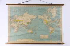 Celestial Map Chart / Vintage Pull Down Chart Reproduction / Canvas ...