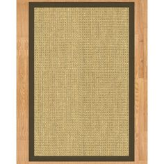 Handcrafted Montes Seagrass Runner Rug with Light Brown Binding